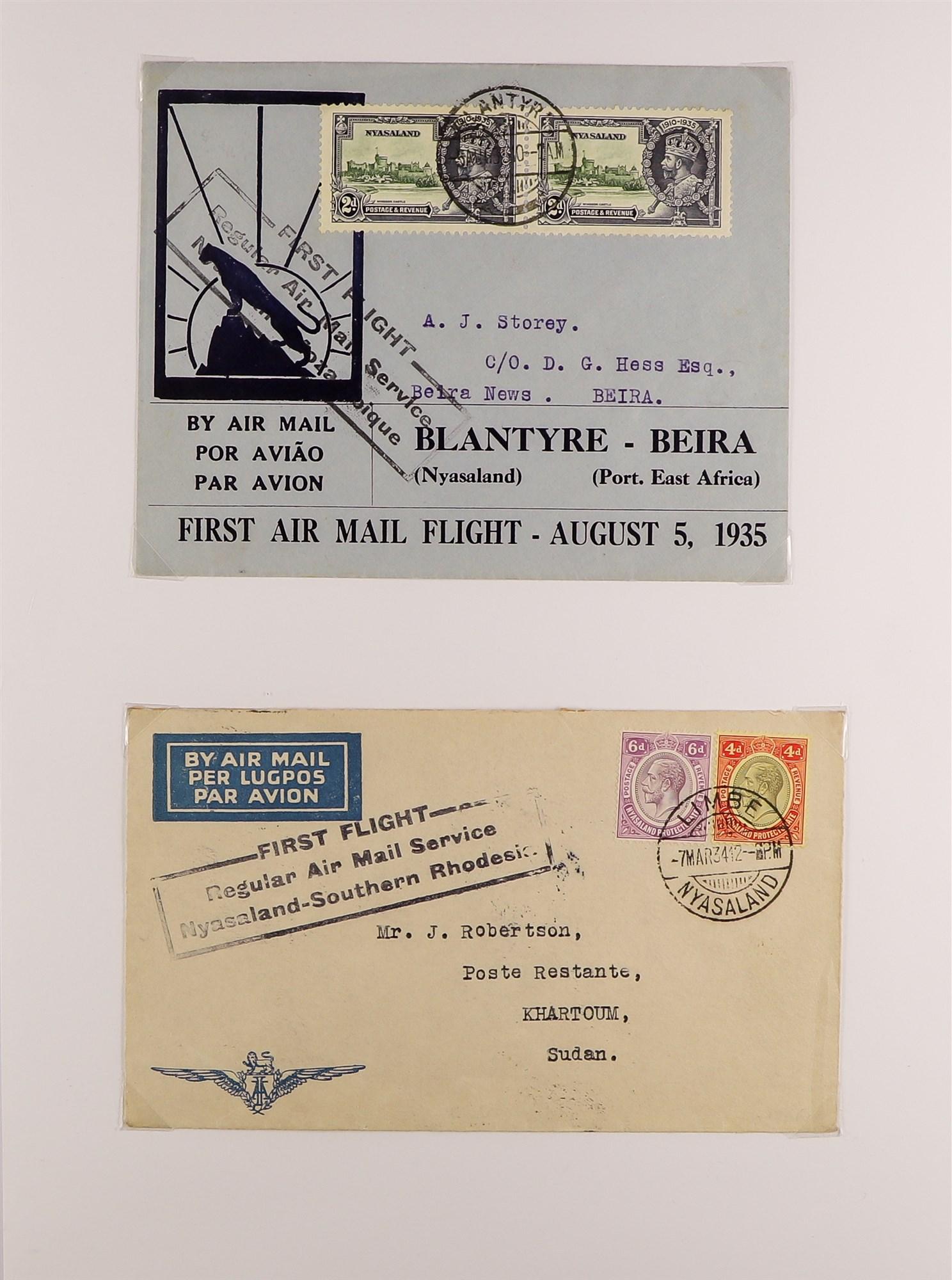 RHODESIA AIRMAIL COVERS COLLECTION 1930's-60's with Rhodesian & Nyasaland Airways (15), Nyasaland- - Image 5 of 10