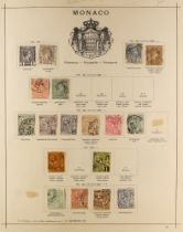 COLLECTIONS & ACCUMULATIONS EUROPE ON OLD SCHAUBEK PAGES with earlier ranges incl. from Monaco,