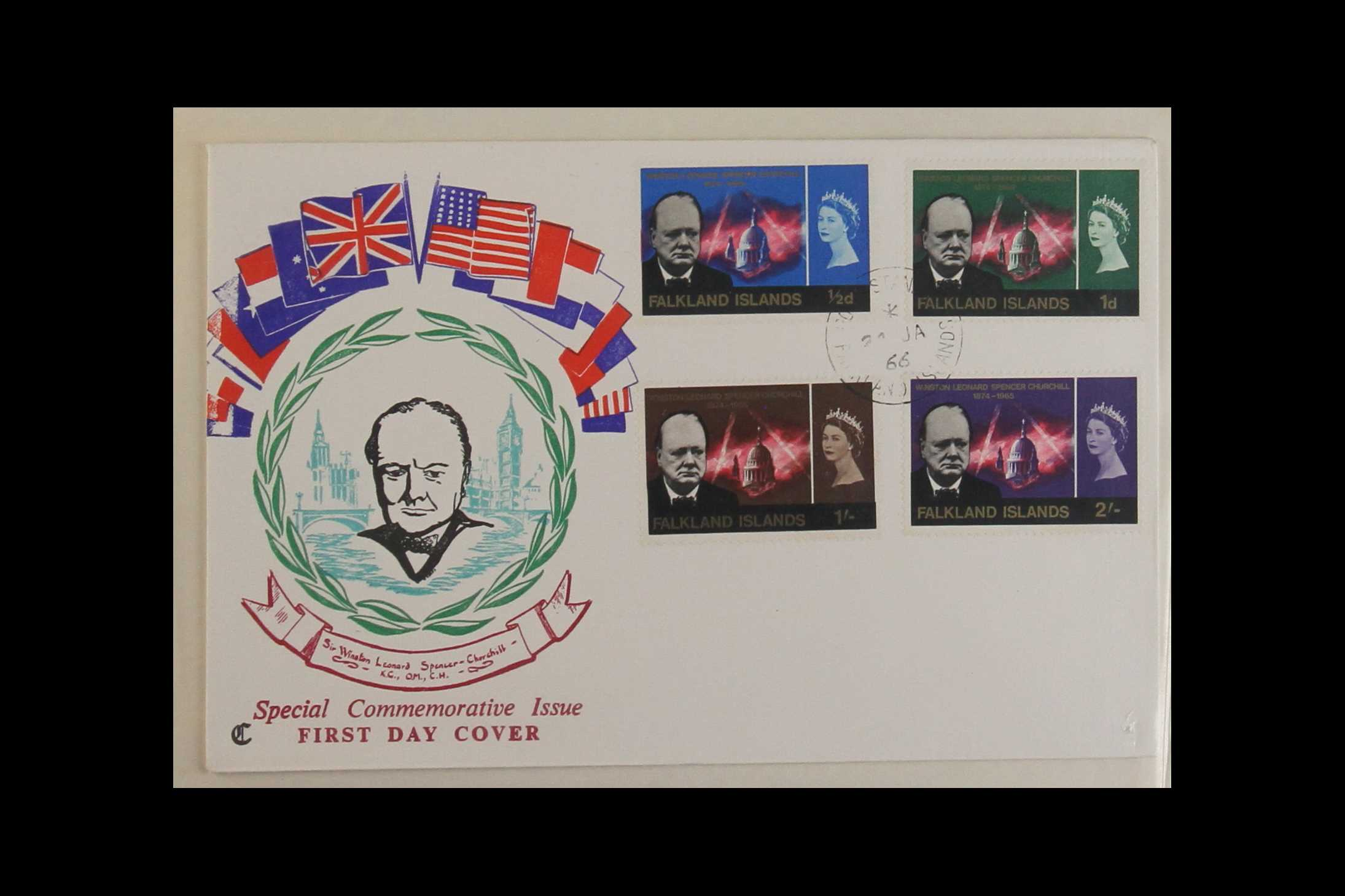 TOPICALS WINSTON CHURCHILL 1965-74 collection incl. 1965 sets on illustrated unaddressed FDC's incl. - Image 7 of 9