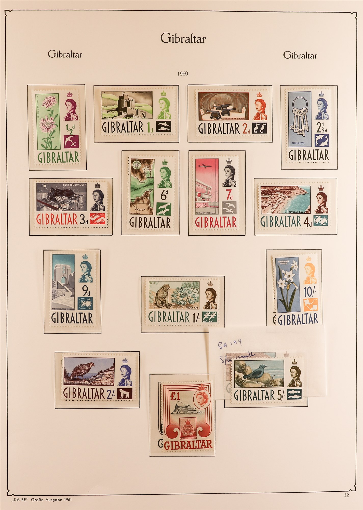 GIBRALTAR 1953-89 collection in a KA-BE album, mint incl. 1953-59 set, much of later is never hinged - Image 2 of 7