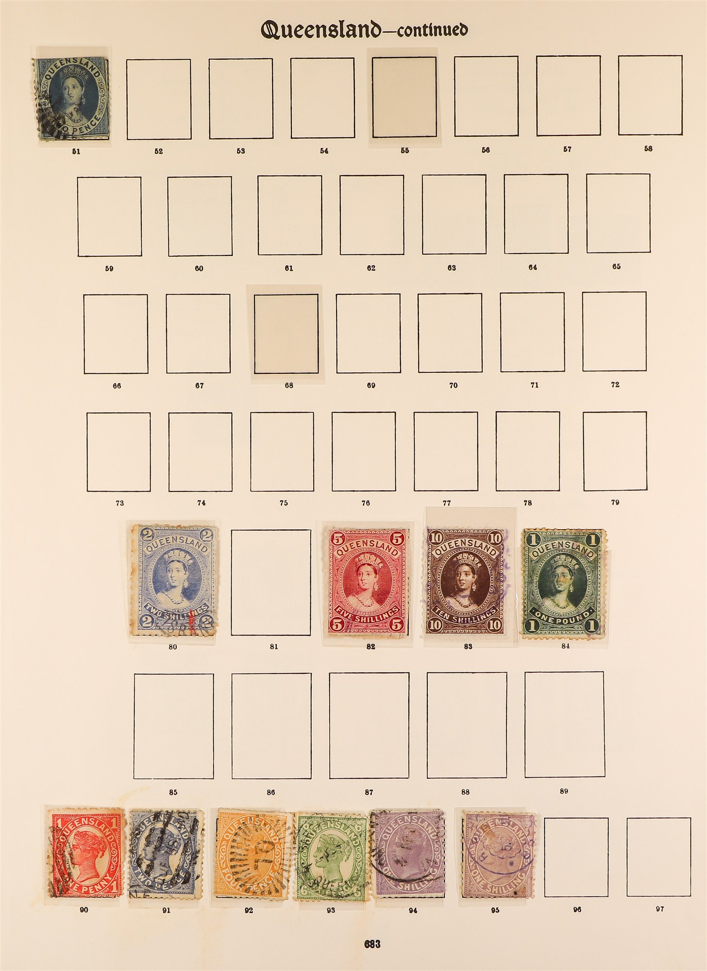 AUSTRALIAN STATES STATES ON IMPERIAL PAGES with ranges of NSW, Queensland, Tasmania, South ,