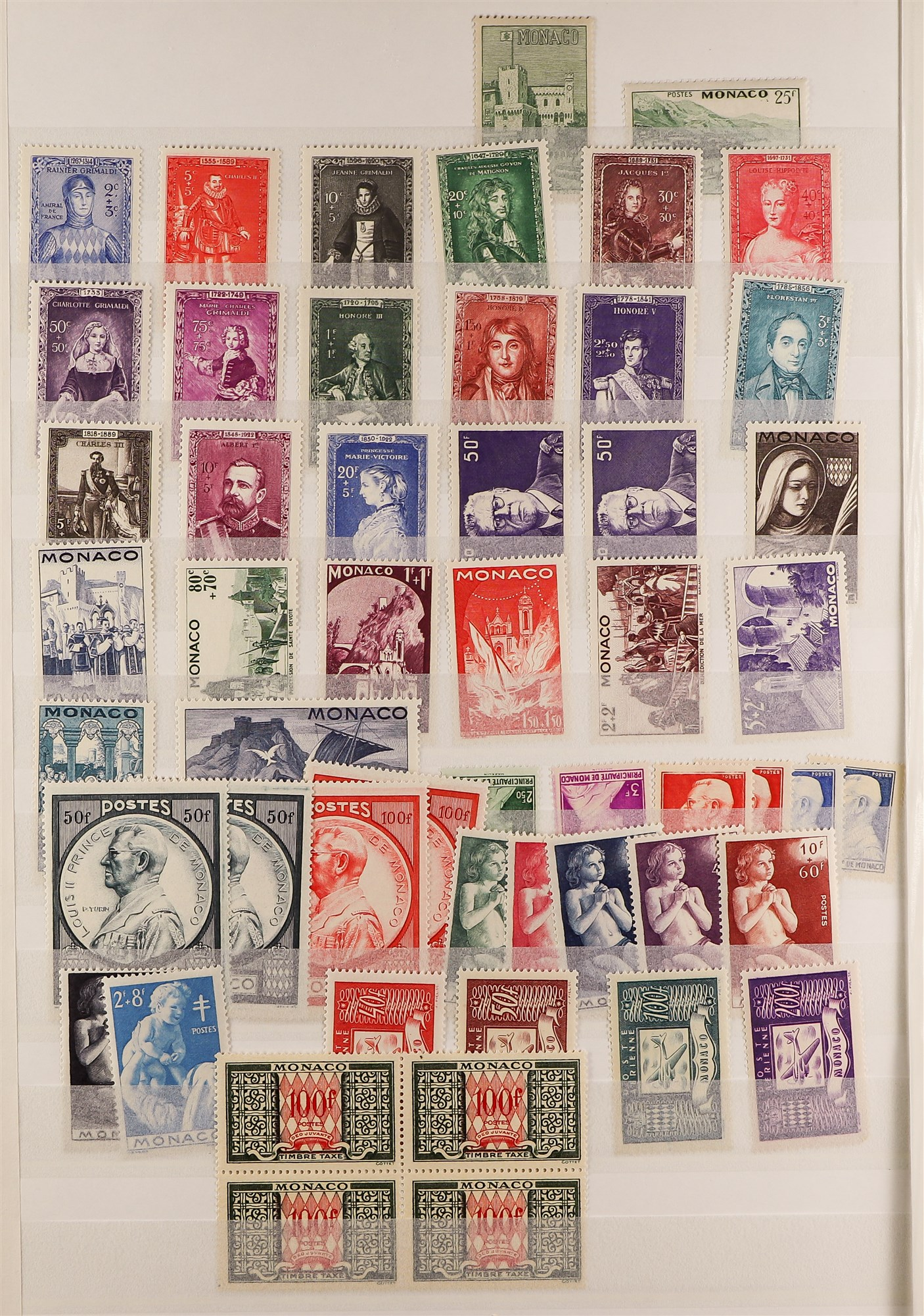 MONACO 1885-2003 MINT COLLECTION with value in the modern never hinged mint issues, note 1924-33 - Image 2 of 6