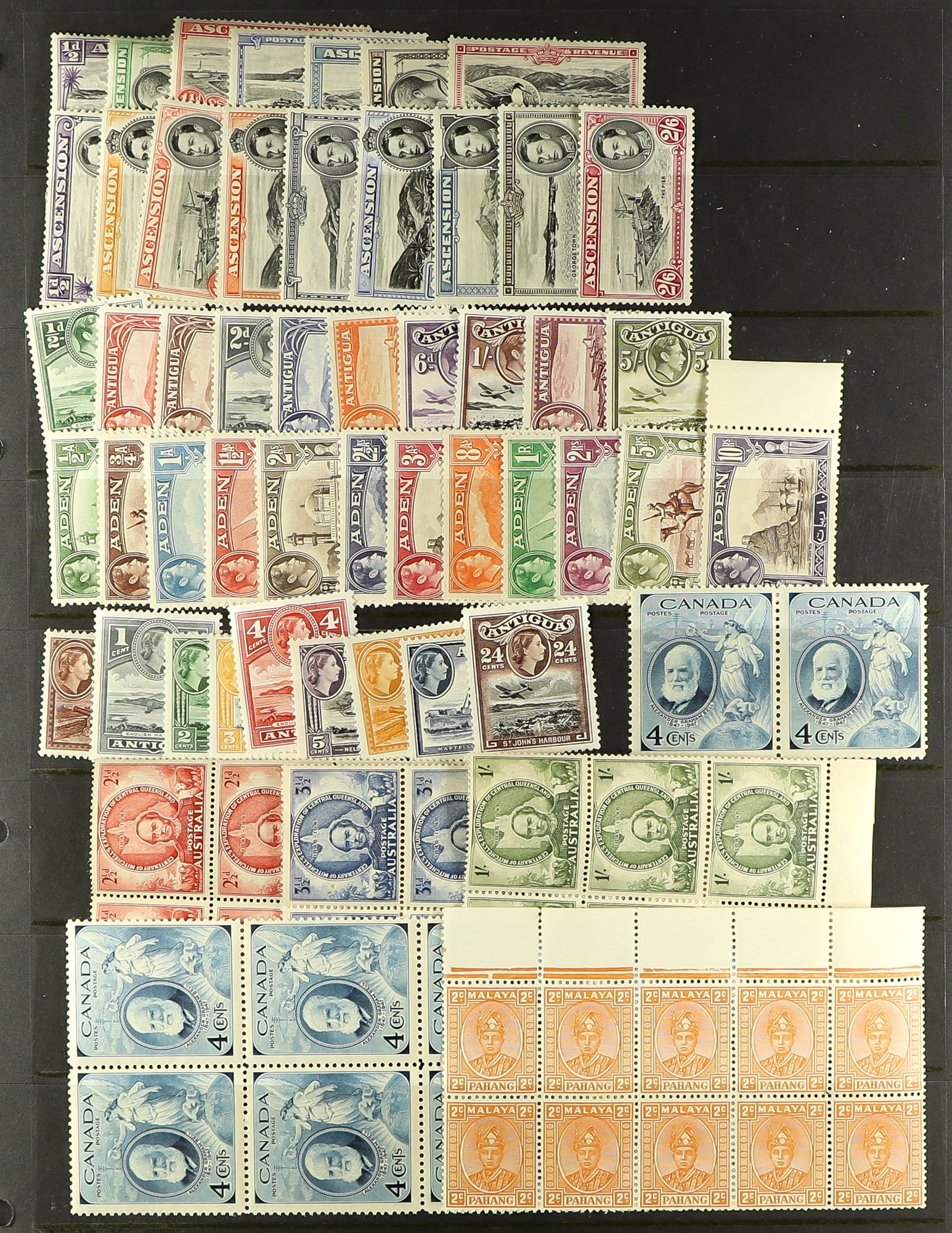 COLLECTIONS & ACCUMULATIONS COMMONWEALTH mainly KGVI issues mint or nhm, incl. Aden to 10r,