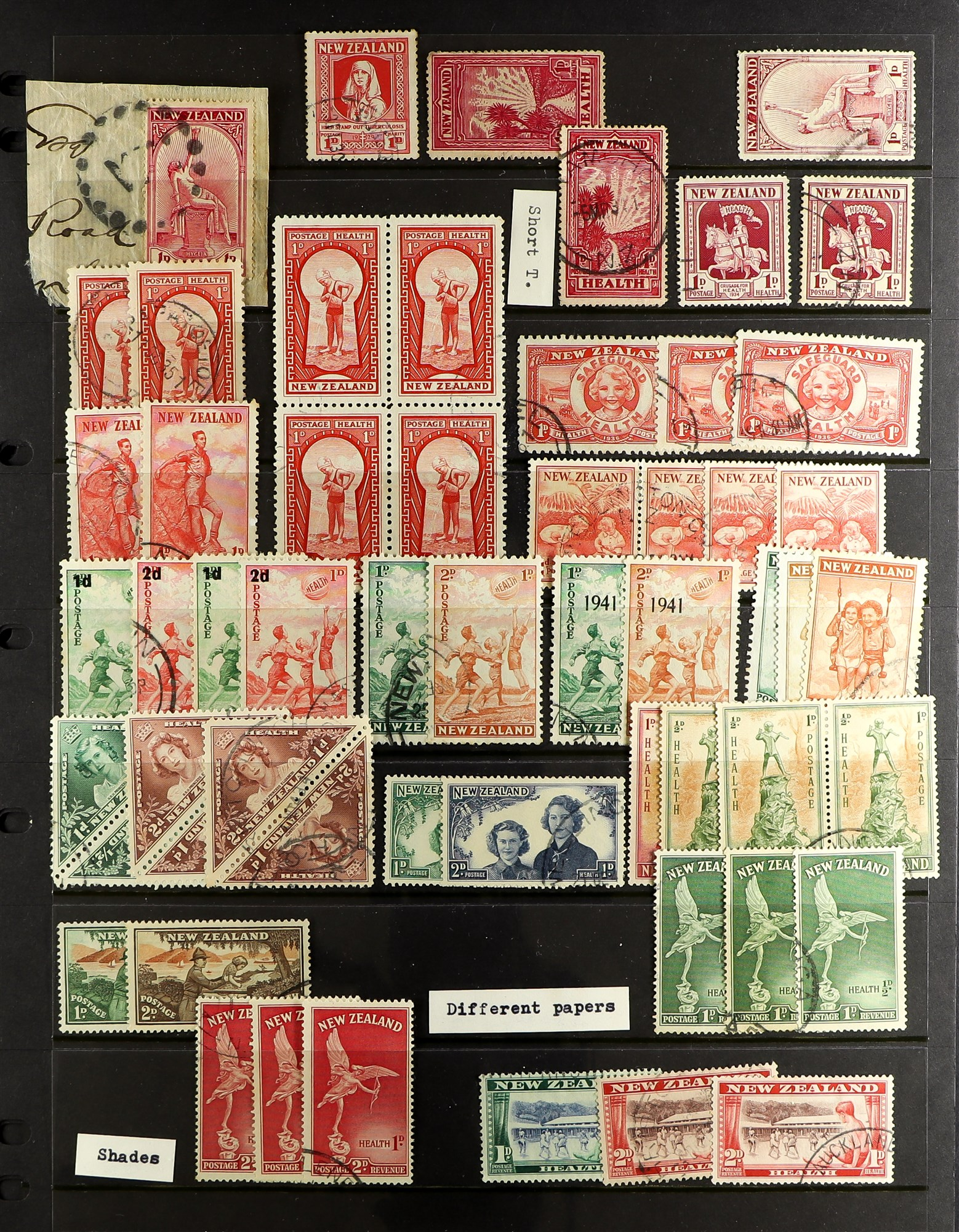 """NEW ZEALAND QV-1990'S USED COLLECTION includes 1929 1d Anti-TB, 1934 7d """"Trans-Tasman"""" opt, 1935 - Image 8 of 8"""