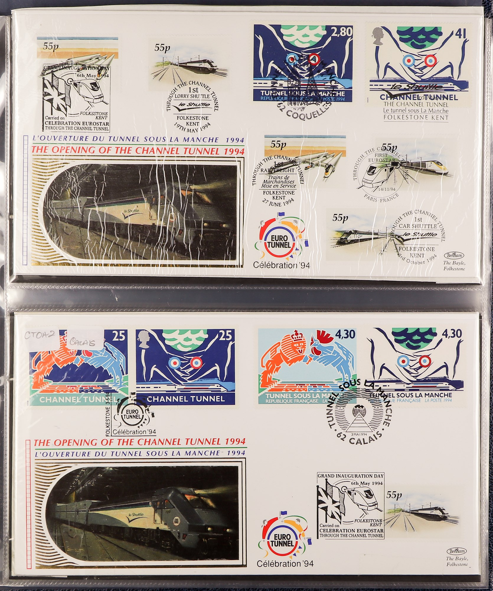 GREAT BRITAIN CHANNEL TUNNEL 1994-2001 BENHAM COVERS COLLECTION in an album, all different. (45 - Image 3 of 5