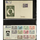 RHODESIA THE RHODESIAS - COVERS COLLECTION IN THREE VOLUMES with a good range of FDC's and other