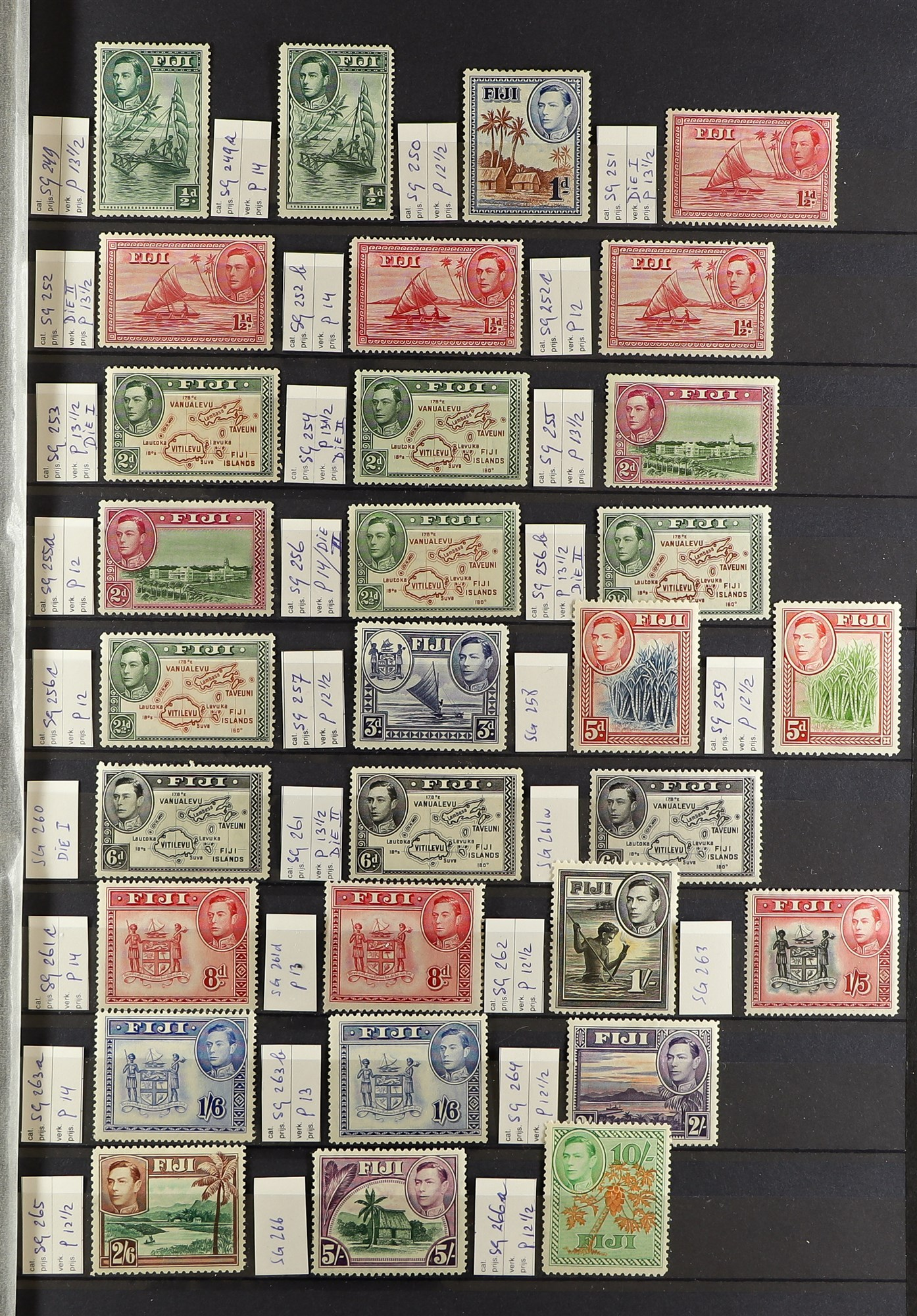 FIJI 1903-70 FINE MINT COLLECTION incl. 1903 set to 5d (excl. ½d), 1904-09 ½d & 1d, 1906-12 to 2½ - Image 3 of 9
