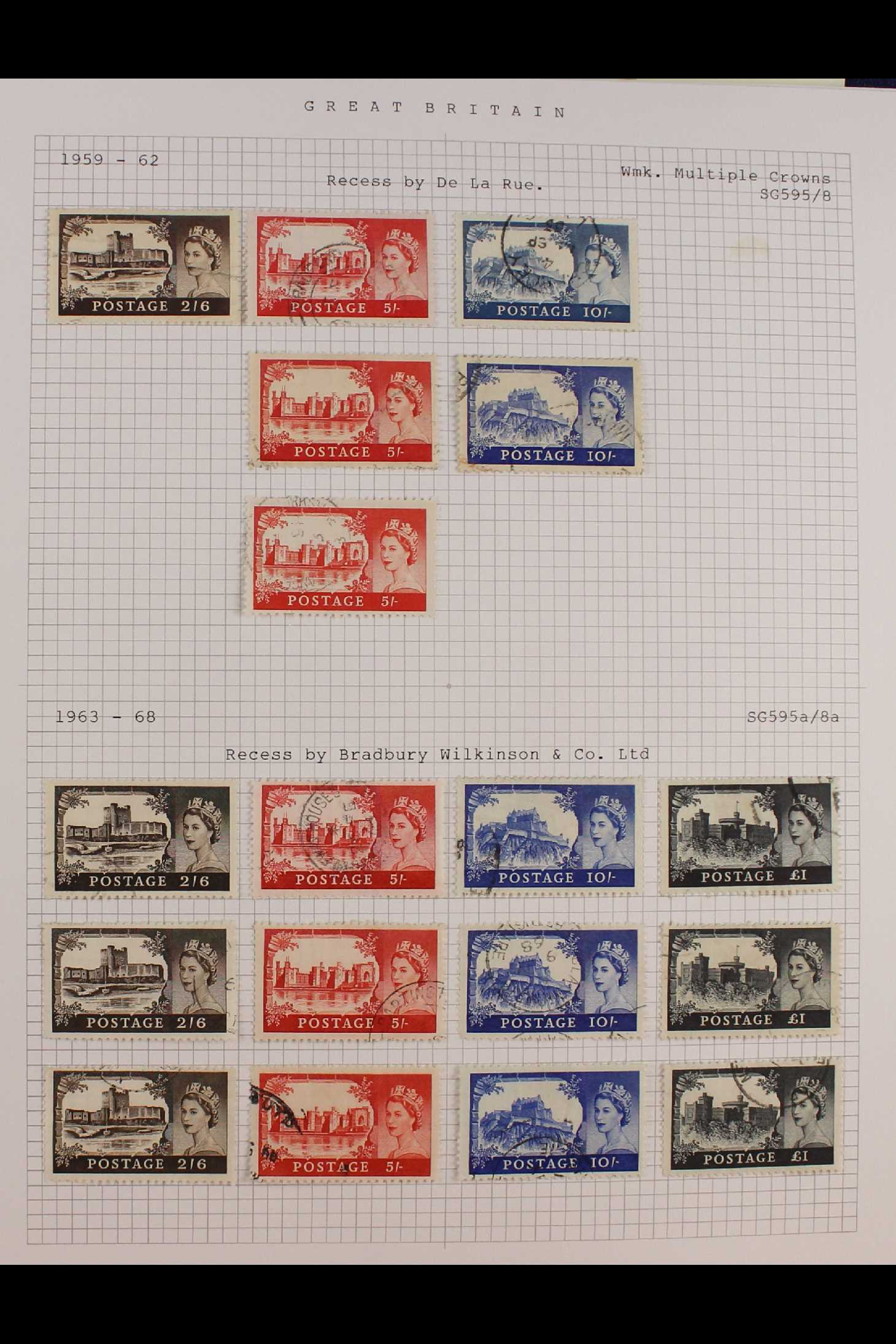 GB.ELIZABETH II 1953-1999 fine used collection in two albums with extensive Wilding & - Image 3 of 18