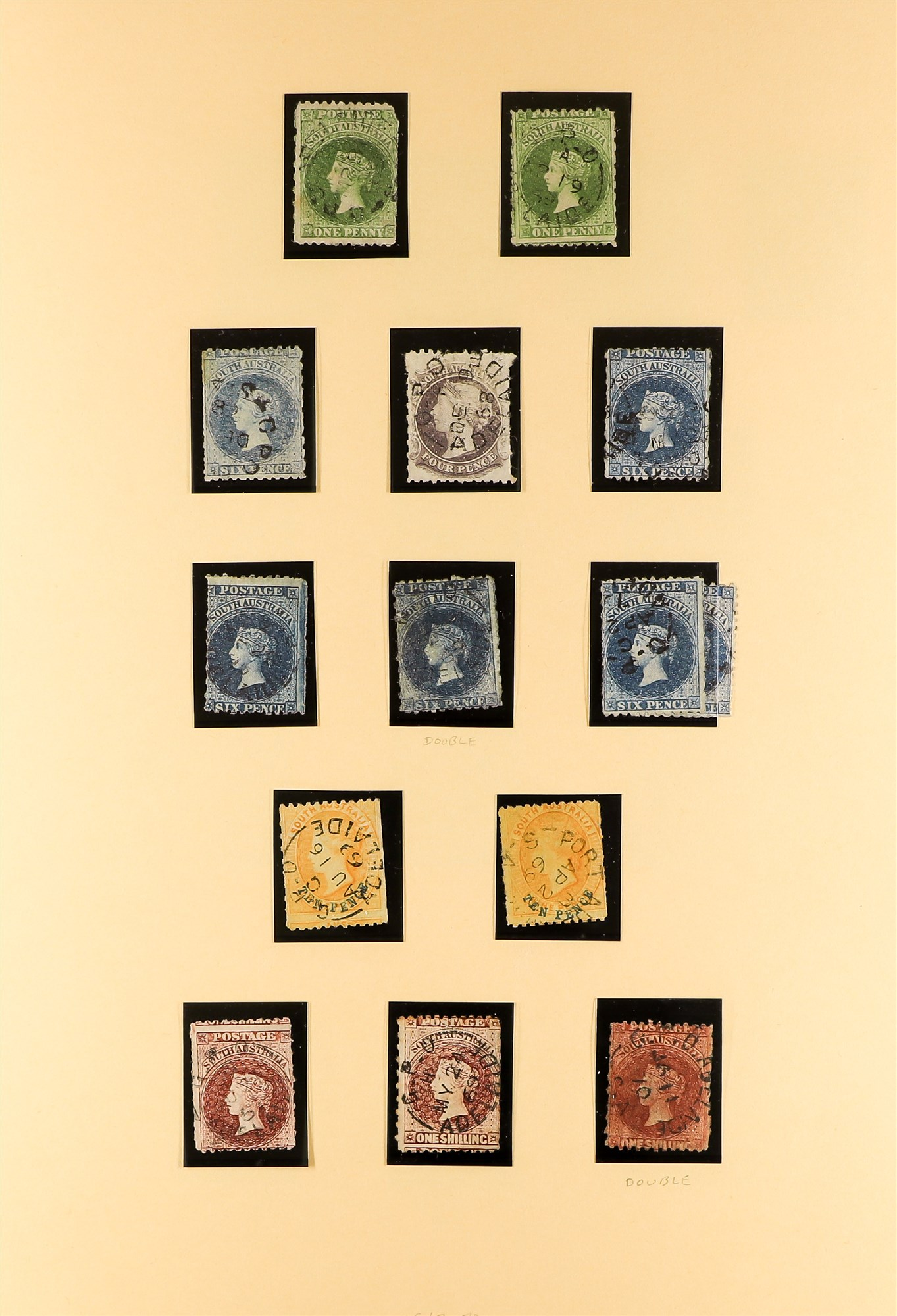 AUSTRALIAN STATES SOUTH AUSTRALIA 1858-1912 mainly used collection incl.1858-9 First Roulettes all - Image 5 of 10