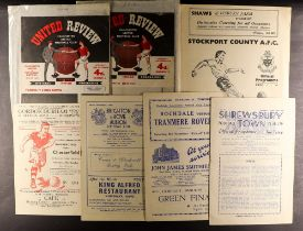 FOOTBALL PROGRAMMES - 1940's AND 1950's. 60 programmes which include Shrewsbury v Boston 49/50,