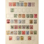 """BERMUDA 1865-1936 OLD TIME USED COLLECTION. on """"Imperial"""" album pages. Includes 1865-1903 CC Wmk"""