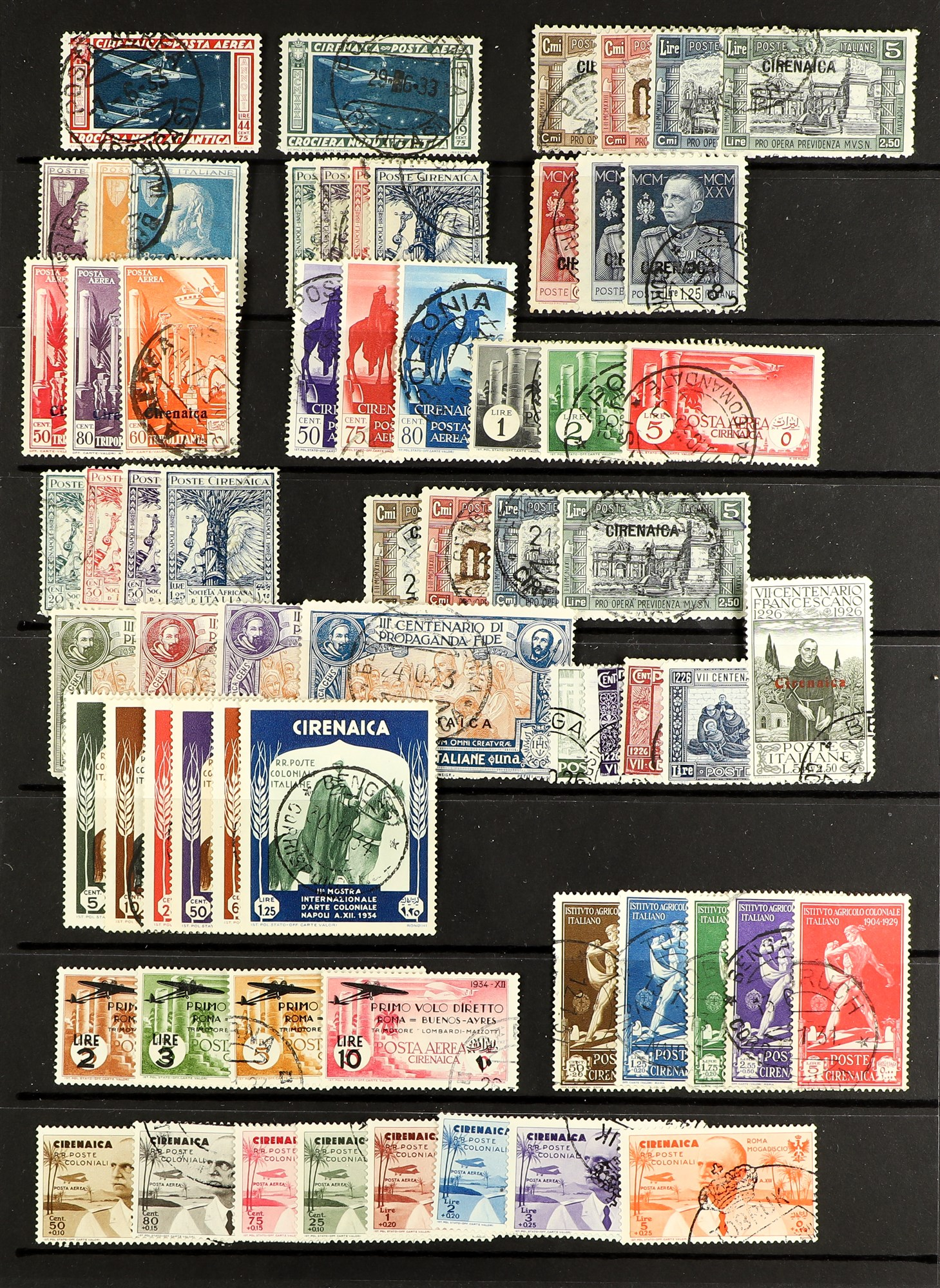 ITALIAN COLONIES CIRENAICA 111923-34 Fine used collection with complete sets and better items