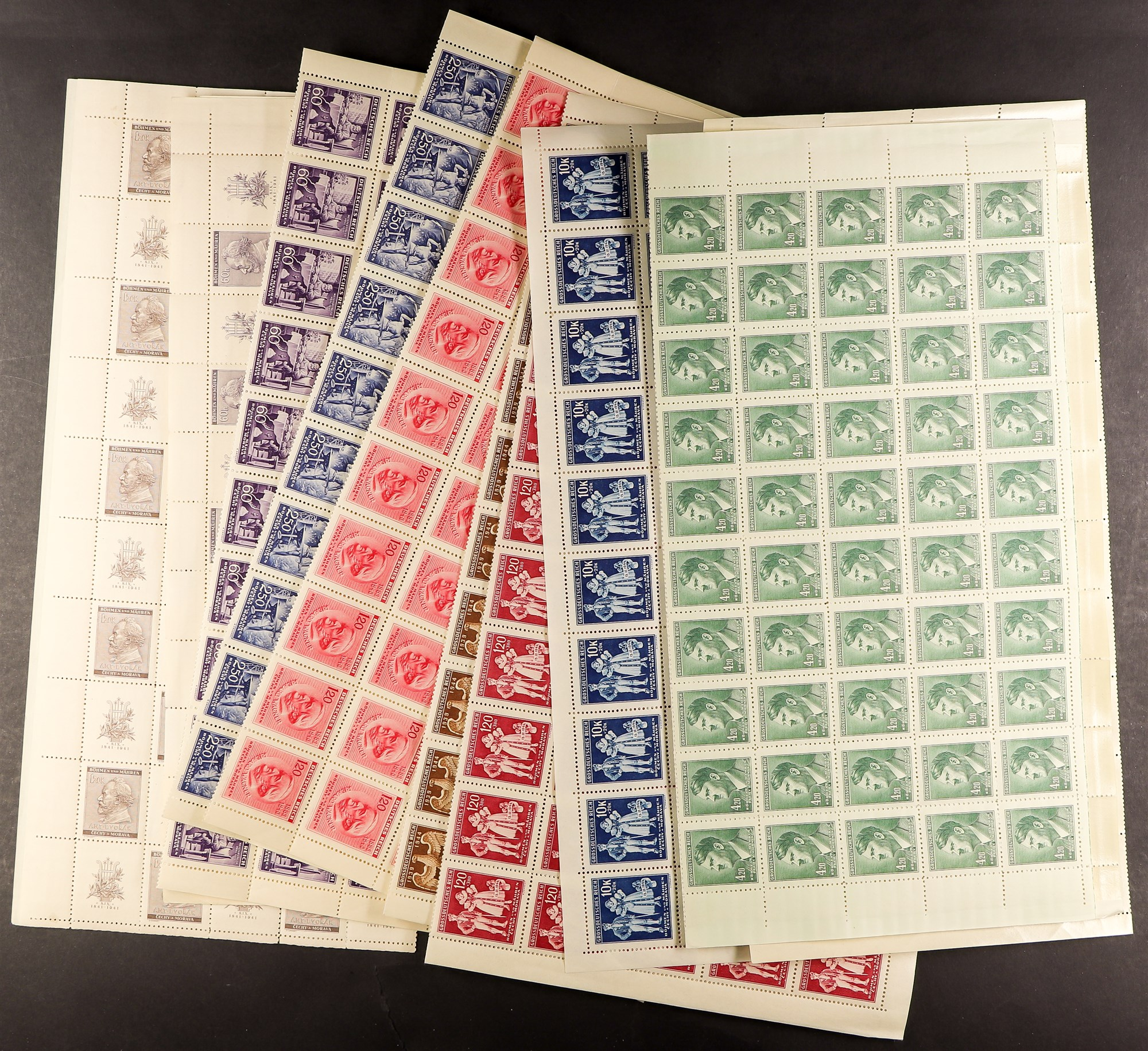 GERMAN OCCUPATIONS BOHEMIA AND MORAVIA 1939-44 never hinged mint collection, incl. 1939 - Image 4 of 4