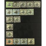 """PAPUA POSTMARKS on 1906 large """"Papua"""" overprinted Lakatoi issues, group of postmarks incl. Port"""
