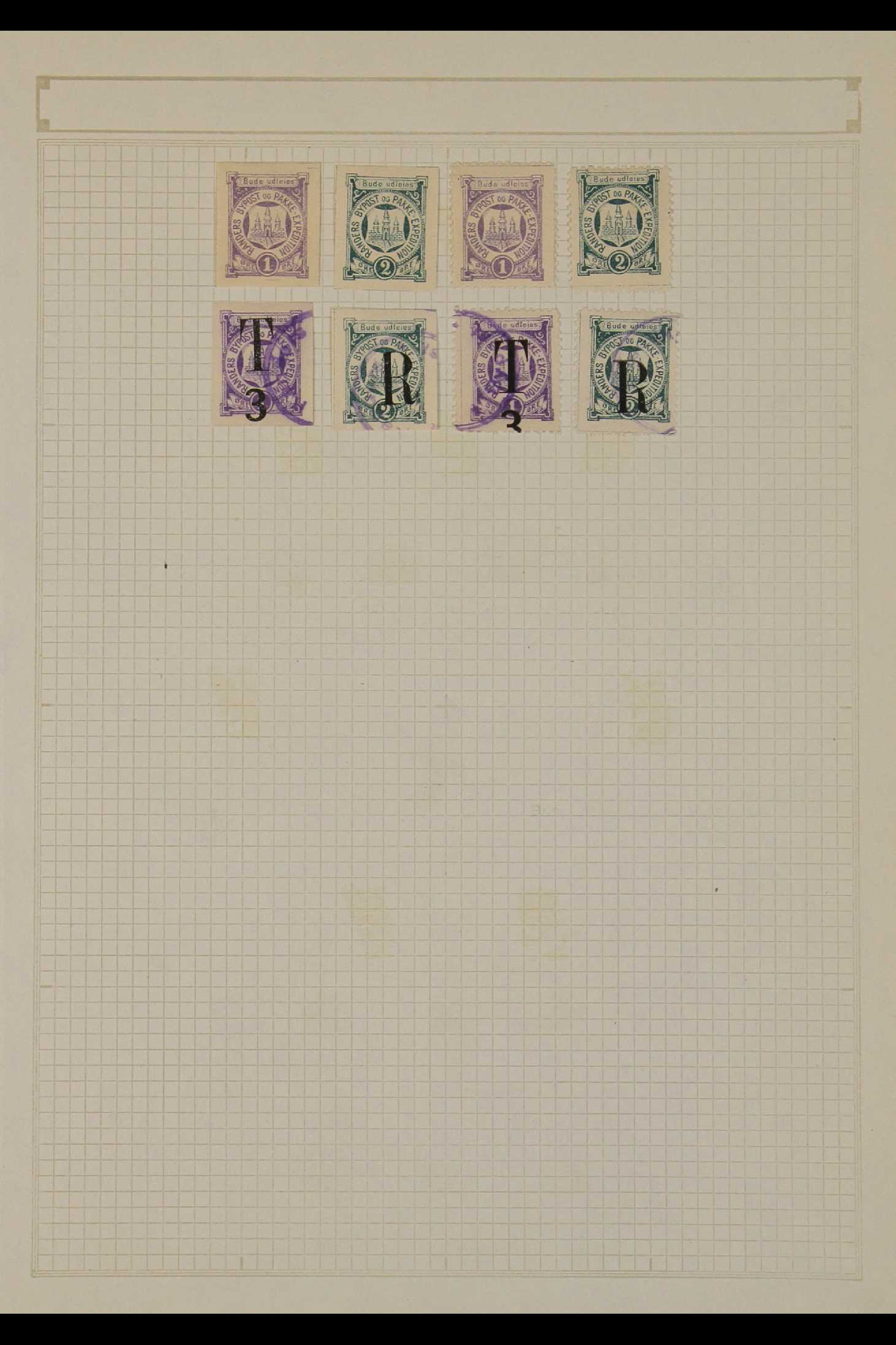 DENMARK LOCAL POST STAMPS - RANDERS 1885-89. MINT & USED ranges incl. inverted surcharges, - Image 4 of 4