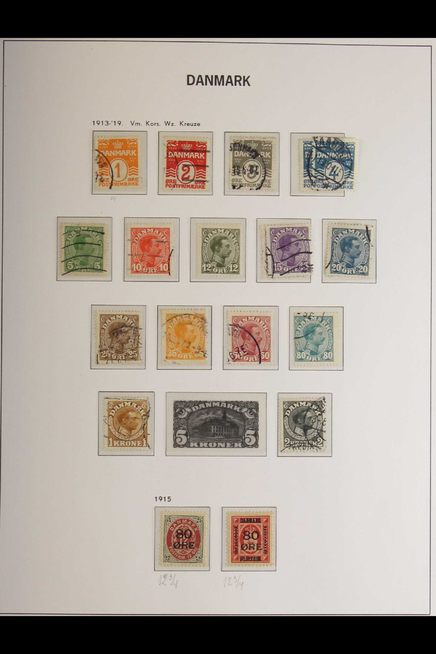 DENMARK 1882-1969 mint and used collection in an album incl. 1882 (small corner figures) 5 ore and - Image 14 of 15