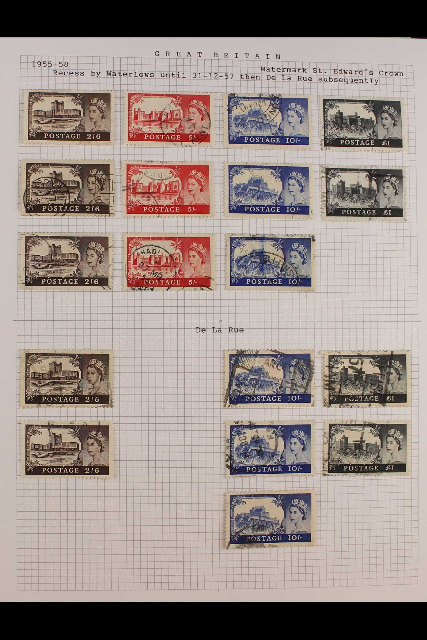 GB.ELIZABETH II 1953-1999 fine used collection in two albums with extensive Wilding & - Image 2 of 18
