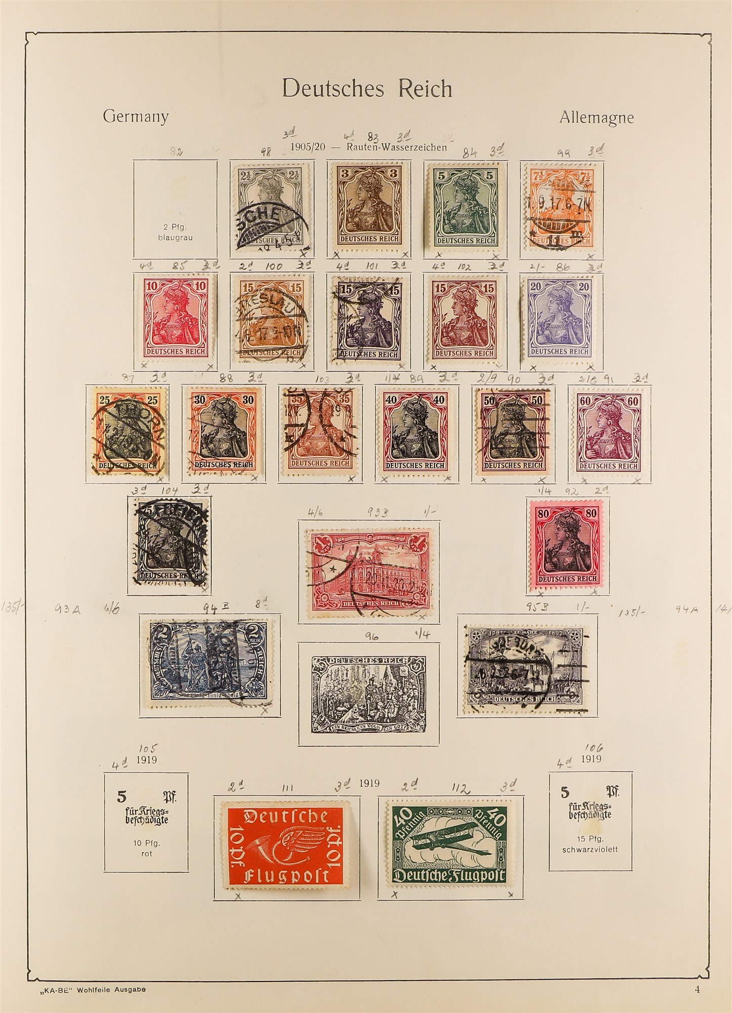 COLLECTIONS & ACCUMULATIONS FRANCE, GERMANY, SWITZERLAND IN TWO LARGE KA-BE ALBUMS with useful - Image 9 of 12