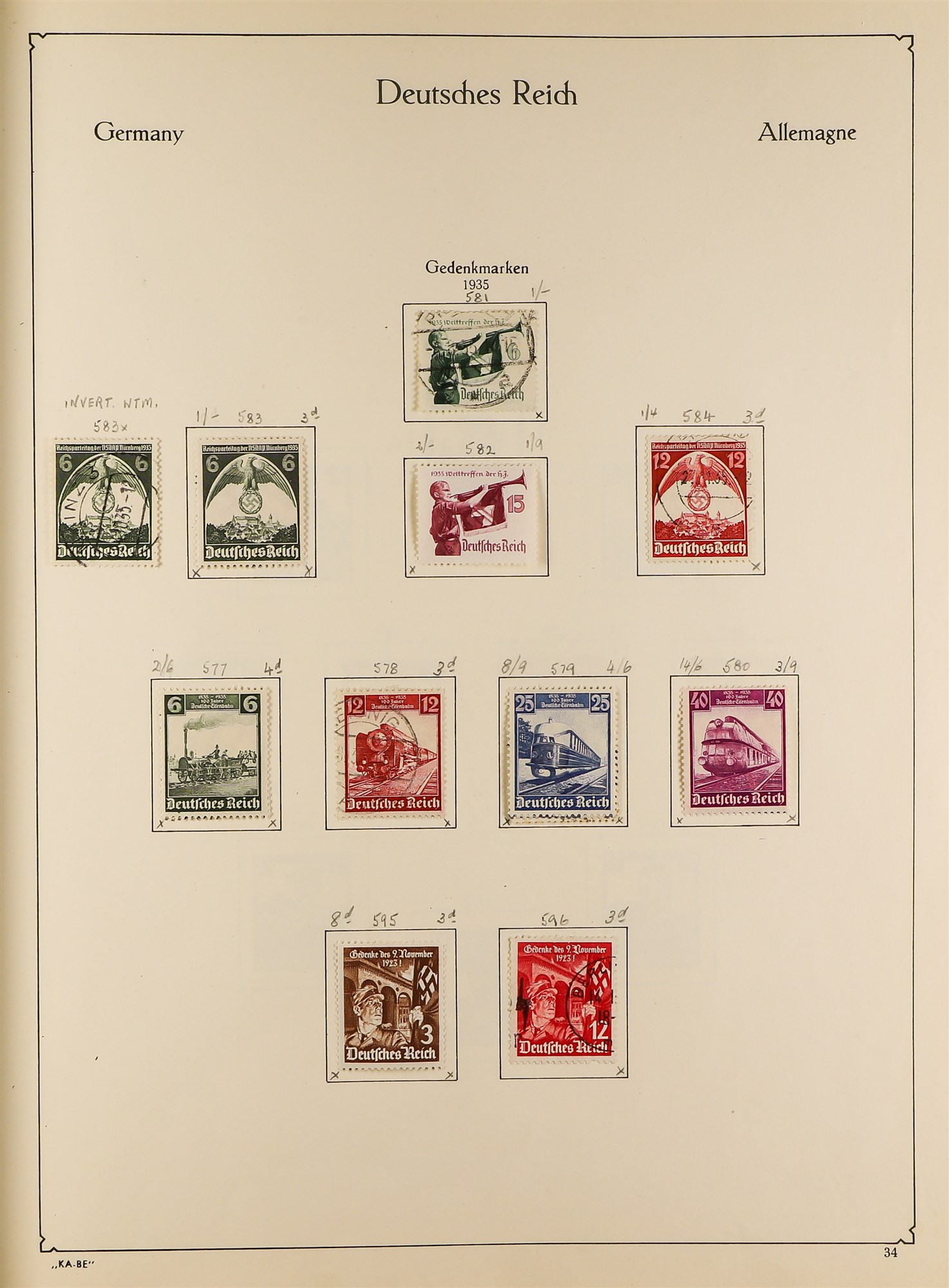 COLLECTIONS & ACCUMULATIONS FRANCE, GERMANY, SWITZERLAND IN TWO LARGE KA-BE ALBUMS with useful - Image 2 of 12