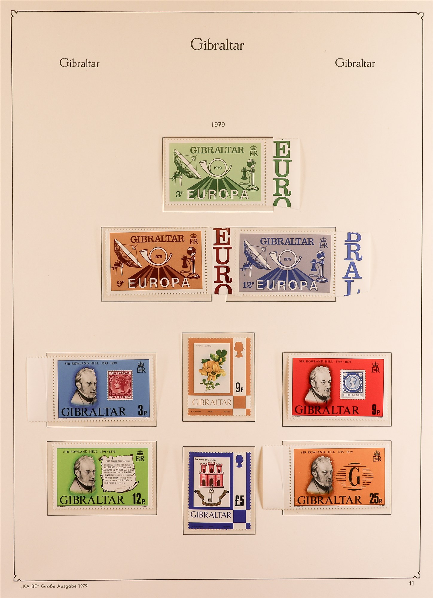 GIBRALTAR 1953-89 collection in a KA-BE album, mint incl. 1953-59 set, much of later is never hinged - Image 3 of 7