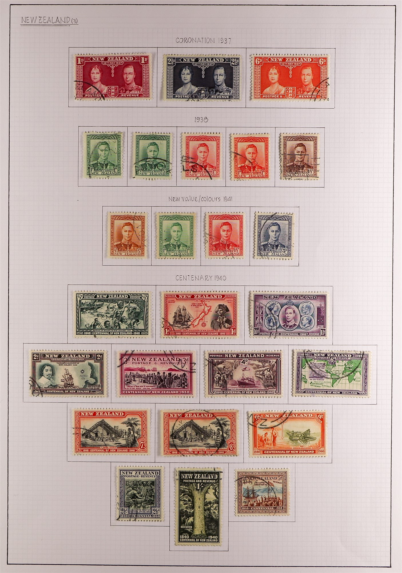 """NEW ZEALAND QV-1990'S USED COLLECTION includes 1929 1d Anti-TB, 1934 7d """"Trans-Tasman"""" opt, 1935 - Image 7 of 8"""
