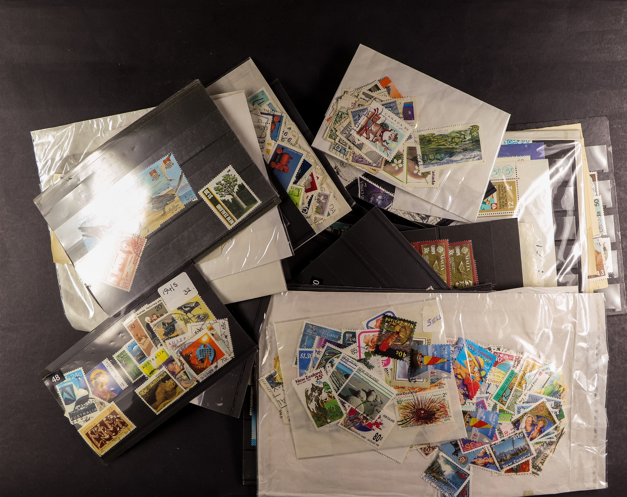 COLLECTIONS & ACCUMULATIONS VAST WORLD ESTATE IN THIRTEEN BOXES with albums, stockbooks, pages, - Image 9 of 10
