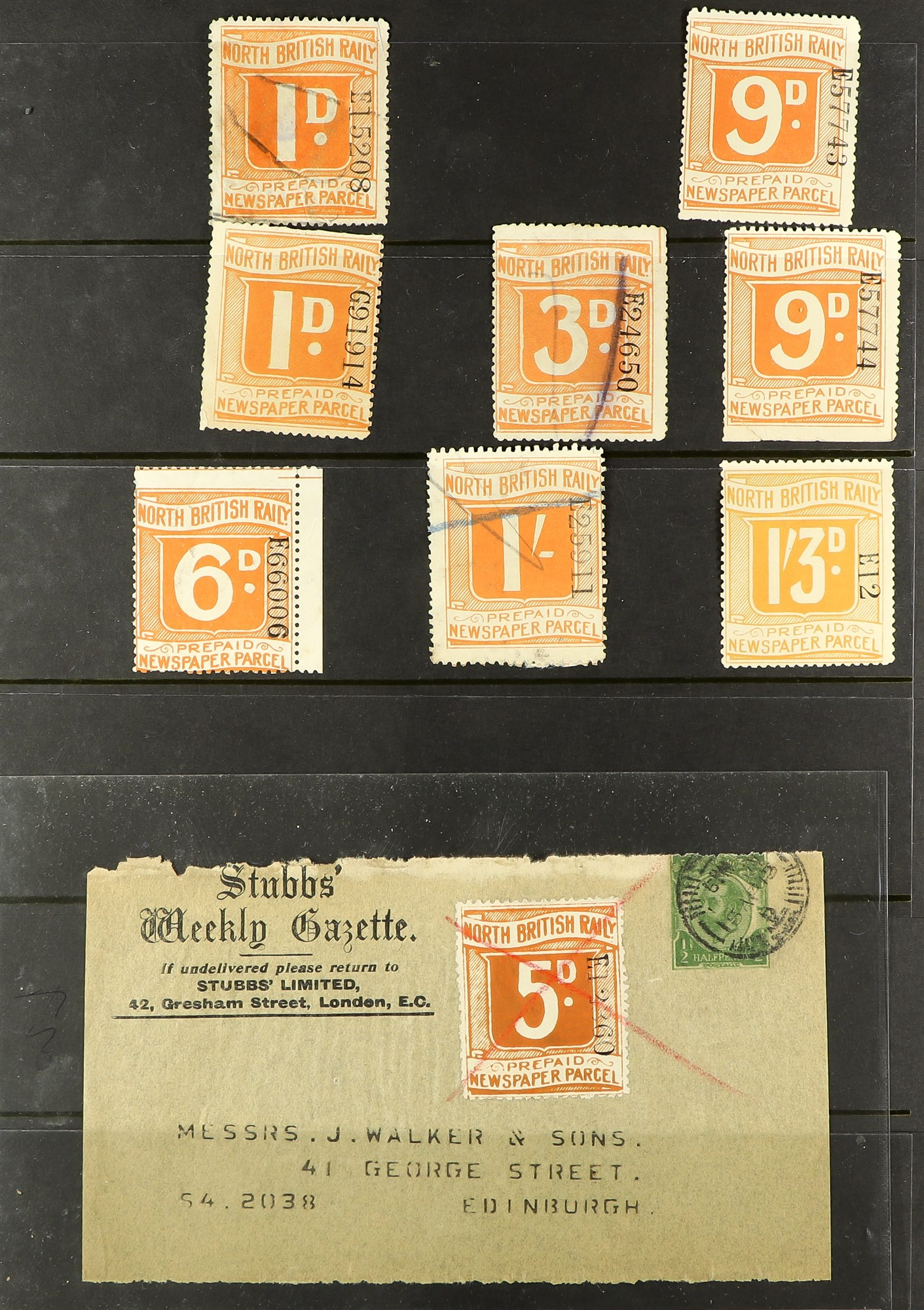 GREAT BRITAIN RAILWAY LETTER AND NEWSPAPER STAMPS 1890's-1940's COLLECTION in two albums, mint and - Image 22 of 24