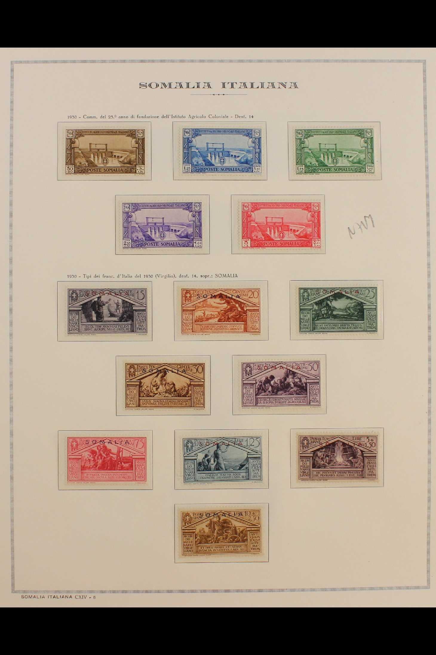 ITALIAN COLONIES SOMALIA 1922-1940 fine mint collection incl.1922 surcharged set, 1923 Fide set NHM, - Image 10 of 18