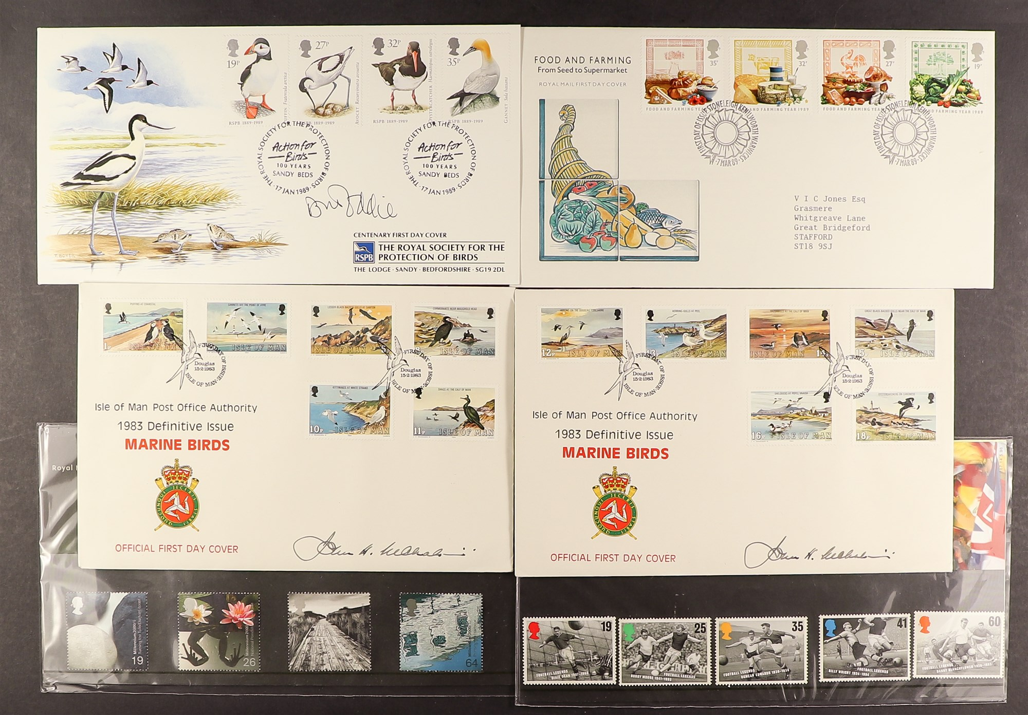 COLLECTIONS & ACCUMULATIONS WORLD SORTER CARTON Birds covers Isle of Man 1983 (2) signed by designer - Image 2 of 4