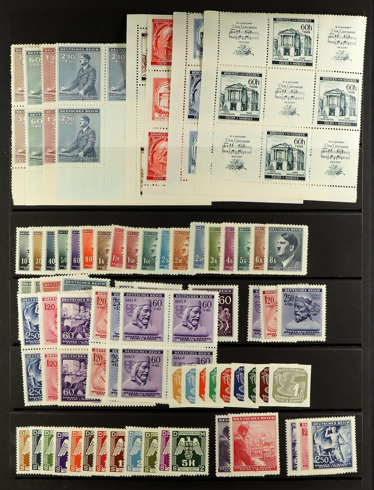 GERMAN OCCUPATIONS BOHEMIA AND MORAVIA 1939-44 never hinged mint collection, incl. 1939 - Image 3 of 4