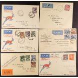 NORTHERN RHODESIA 1931-34 FLIGHT COVERS with 1931 (17 Dec) Broken Hill to Windhoek, 1931 (18 Dec)