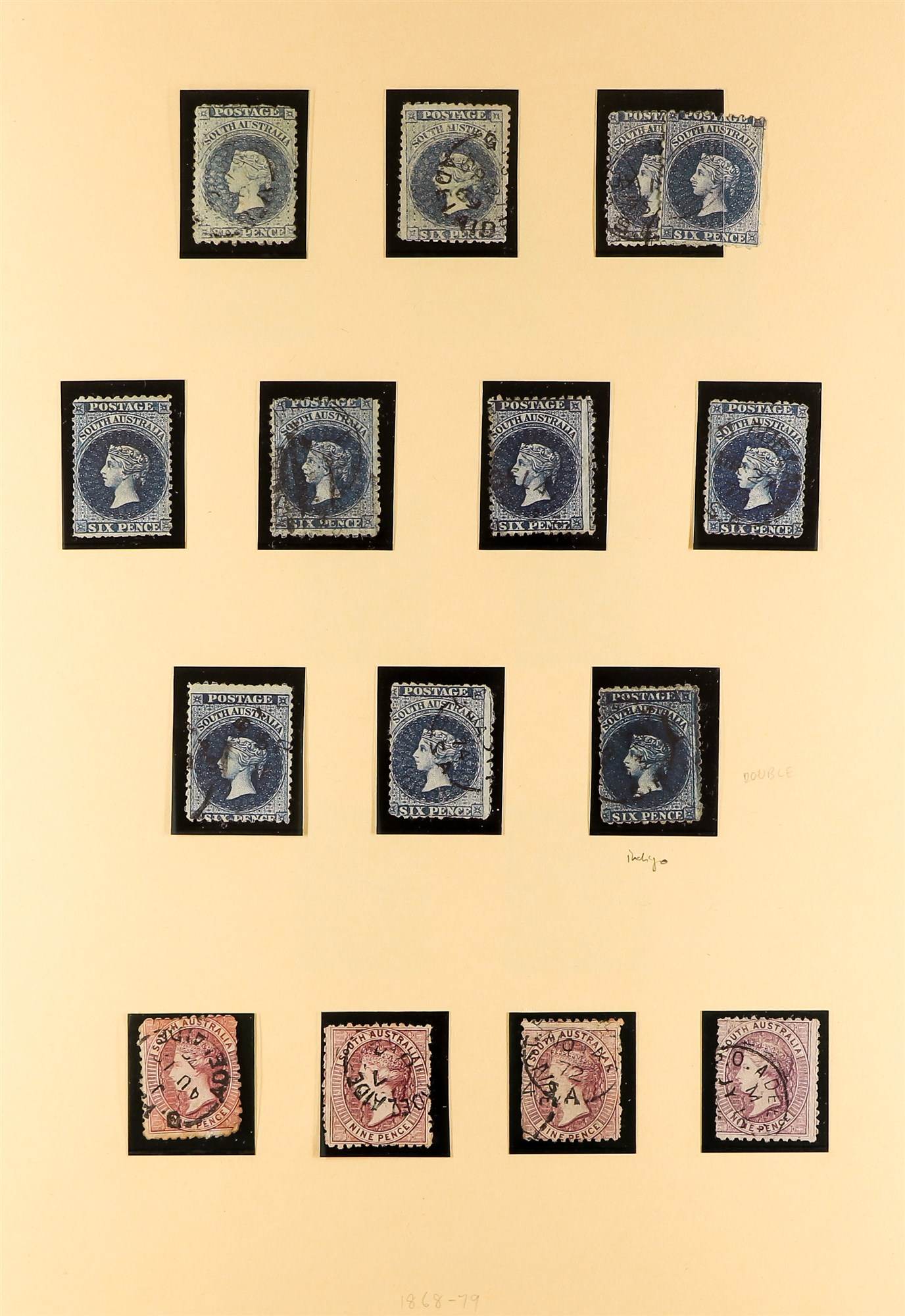 AUSTRALIAN STATES SOUTH AUSTRALIA 1858-1912 mainly used collection incl.1858-9 First Roulettes all - Image 6 of 10