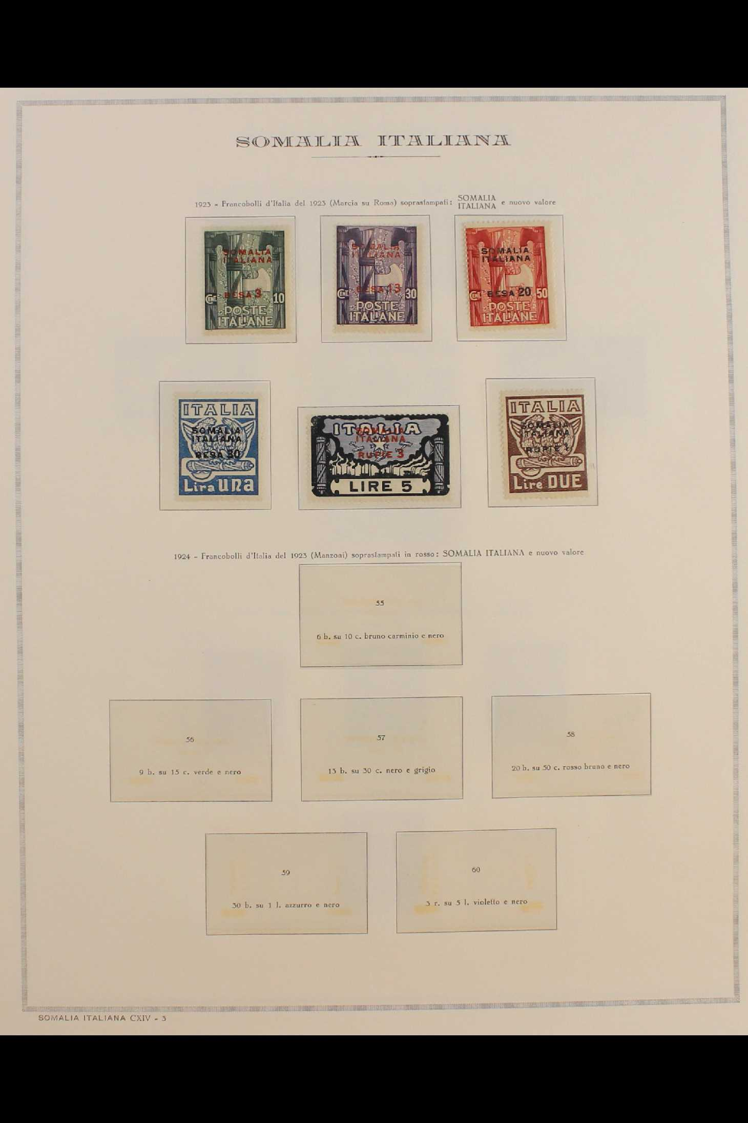 ITALIAN COLONIES SOMALIA 1922-1940 fine mint collection incl.1922 surcharged set, 1923 Fide set NHM, - Image 3 of 18