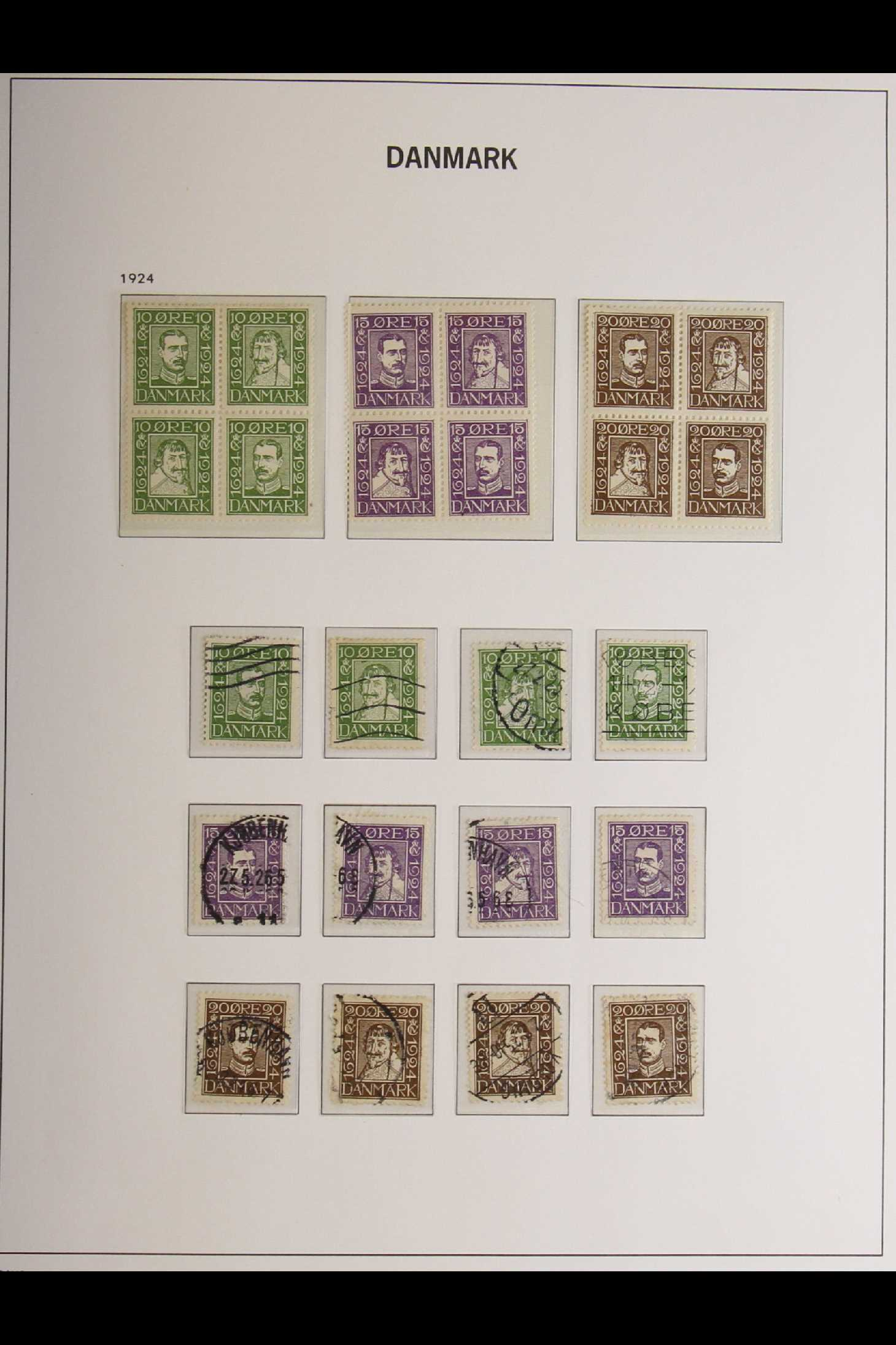 DENMARK 1882-1969 mint and used collection in an album incl. 1882 (small corner figures) 5 ore and - Image 5 of 15