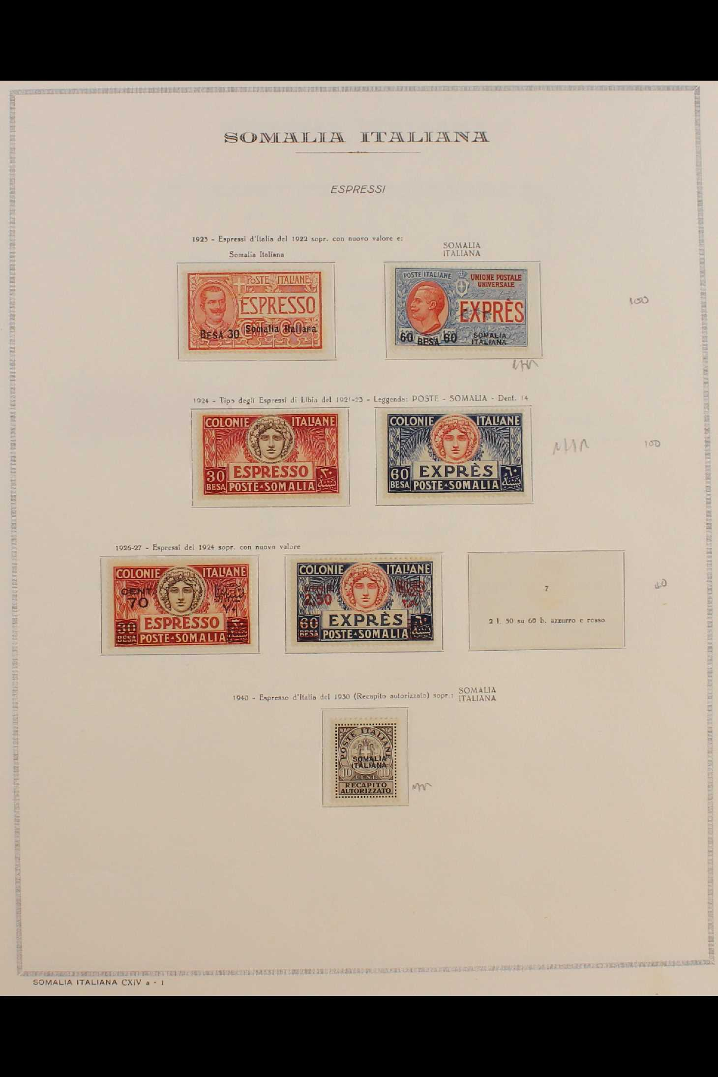 ITALIAN COLONIES SOMALIA 1922-1940 fine mint collection incl.1922 surcharged set, 1923 Fide set NHM, - Image 15 of 18