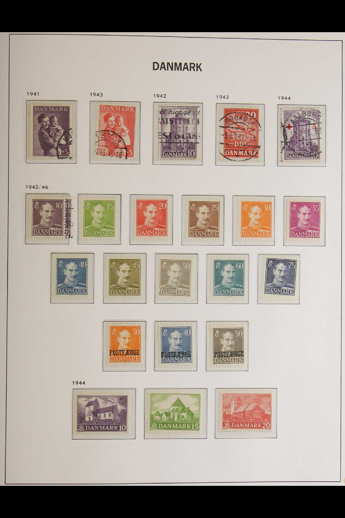 DENMARK 1882-1969 mint and used collection in an album incl. 1882 (small corner figures) 5 ore and - Image 9 of 15