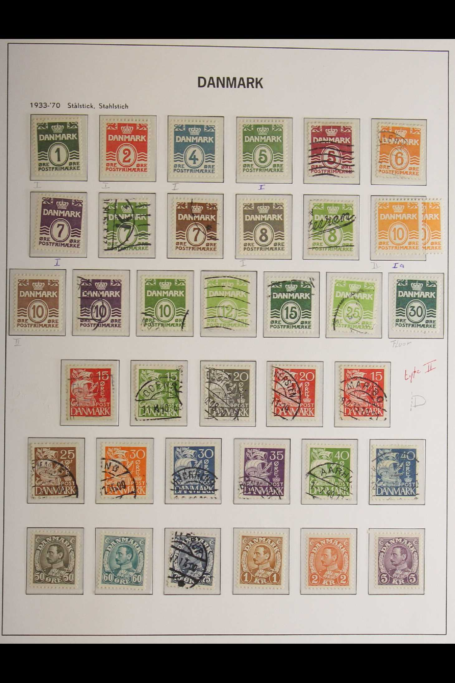 DENMARK 1882-1969 mint and used collection in an album incl. 1882 (small corner figures) 5 ore and - Image 7 of 15