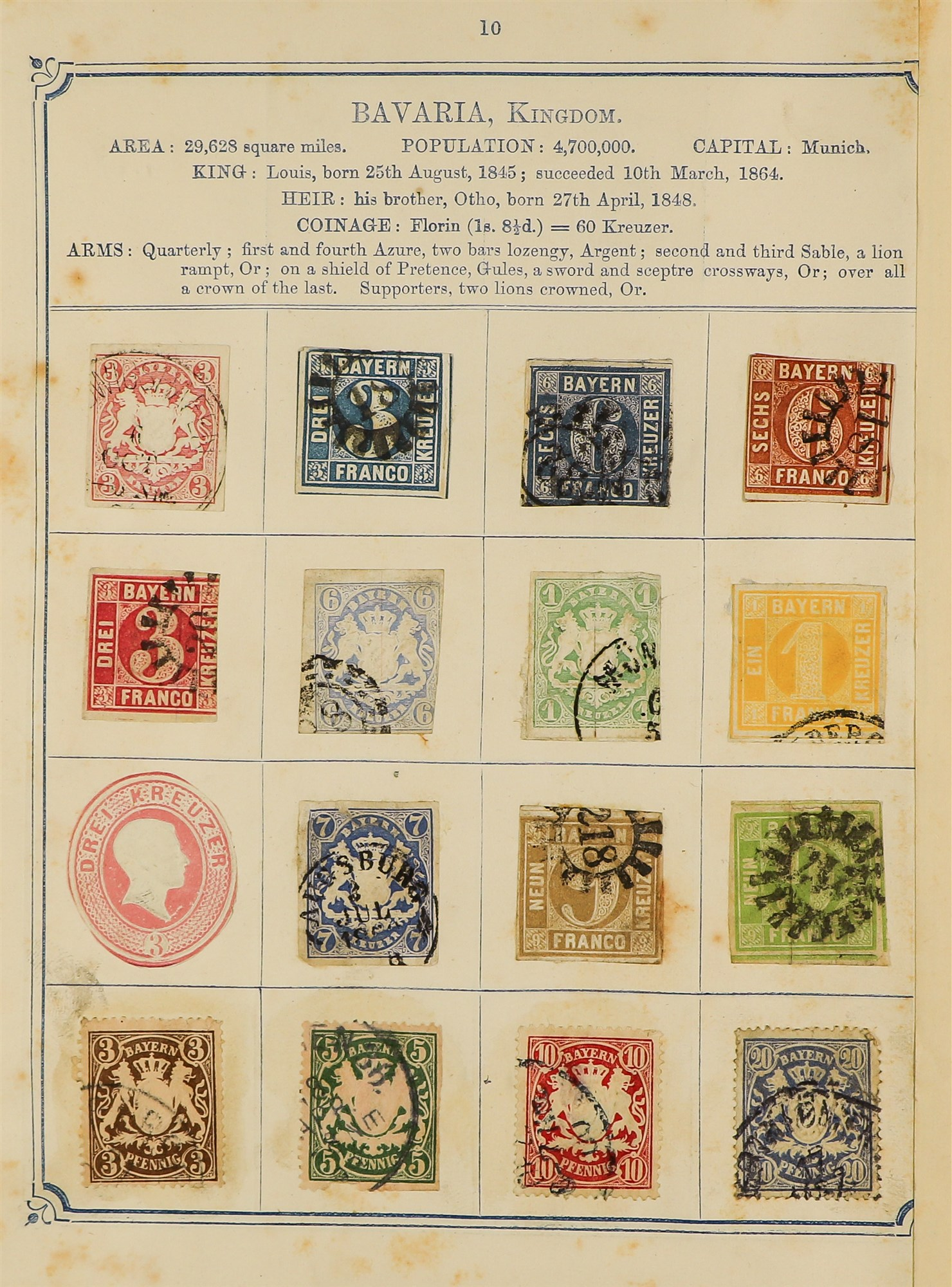 COLLECTIONS & ACCUMULATIONS OPPENS ALBUM OF WORLD CLASSICS 1870 with very mixed condition stuck down