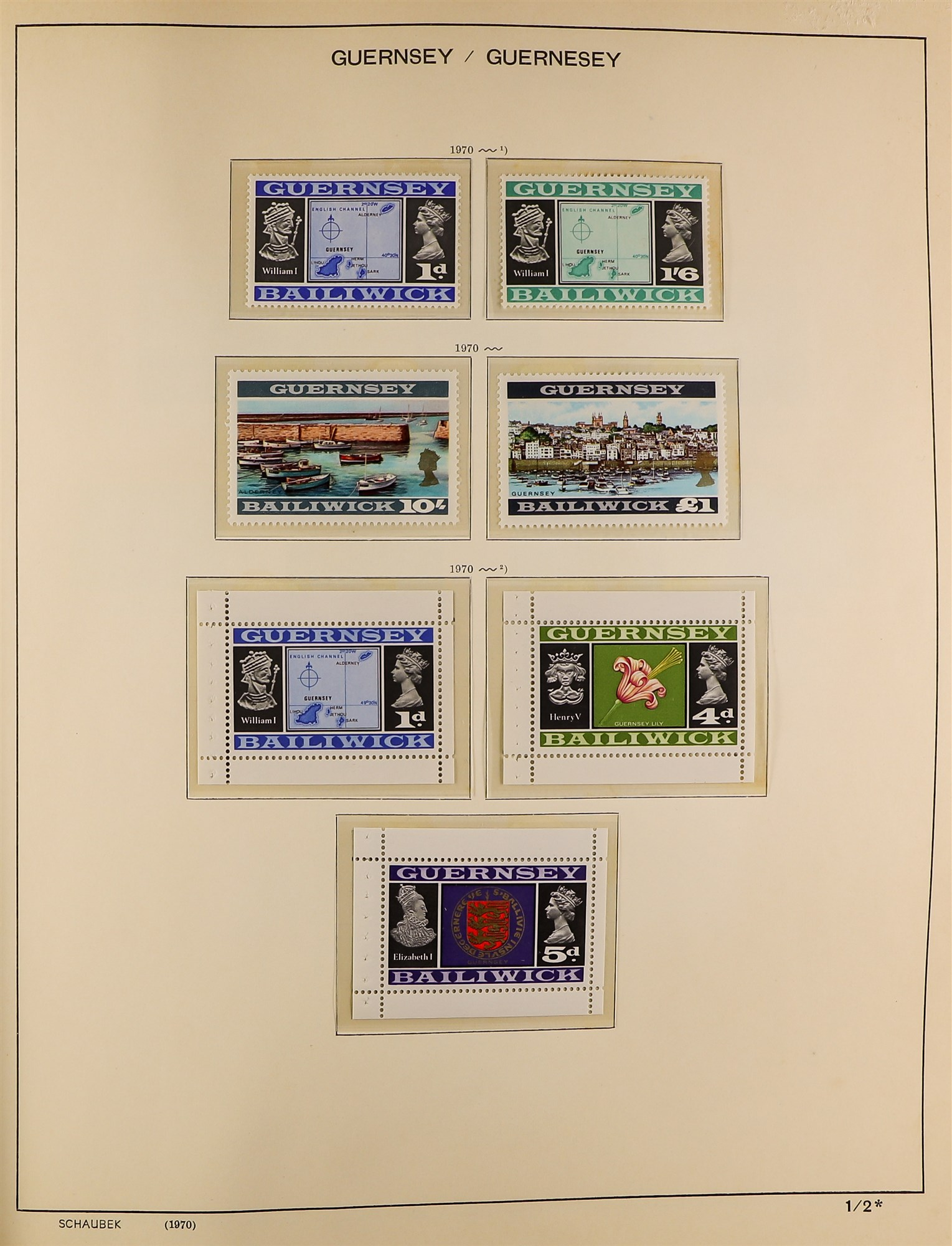 GB.ISLANDS CHANNEL ISLANDS AND ISLE OF MAN COLLECTIONS 1969-98 never hinged mint collections in