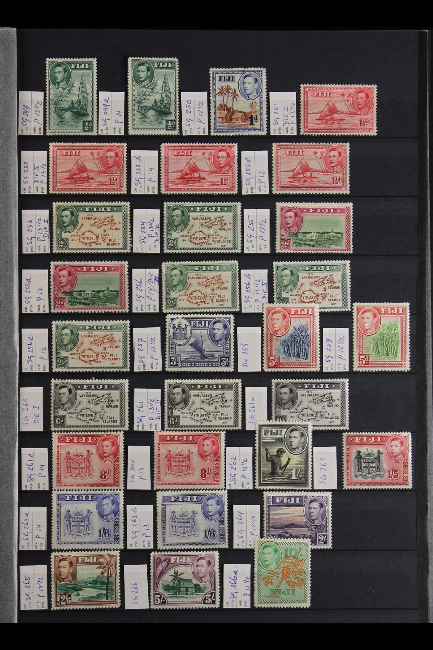 FIJI 1903-70 FINE MINT COLLECTION incl. 1903 set to 5d (excl. ½d), 1904-09 ½d & 1d, 1906-12 to 2½ - Image 2 of 9