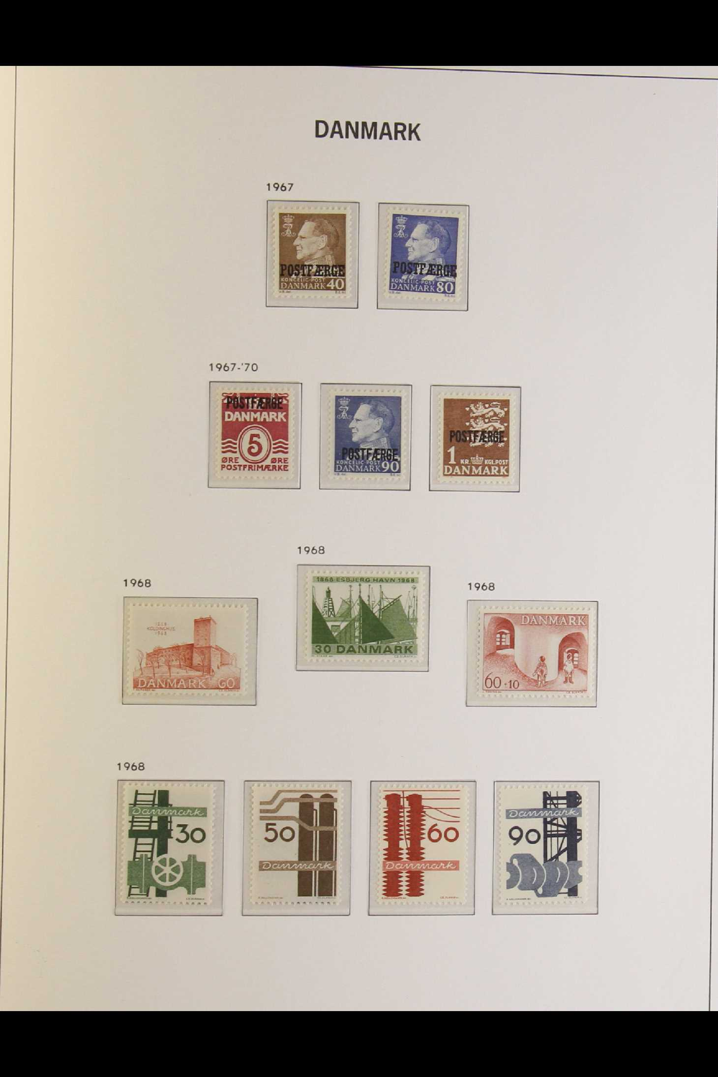 DENMARK 1882-1969 mint and used collection in an album incl. 1882 (small corner figures) 5 ore and - Image 12 of 15