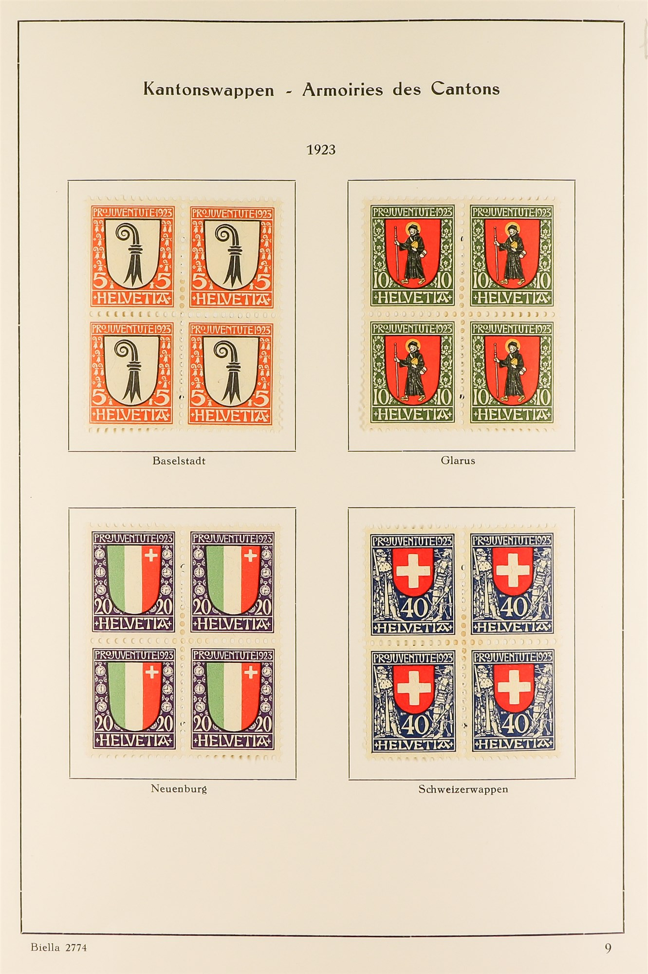 SWITZERLAND 1913-57 PRO JUVENTUTE collection of fine mint/never hinged blocks of four, S.T.C. £1580. - Image 4 of 8