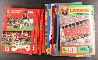 FOOTBALL PROGRAMMES - SOUTHAMPTON 1980s home and away collection. Over 230 programmes which are in