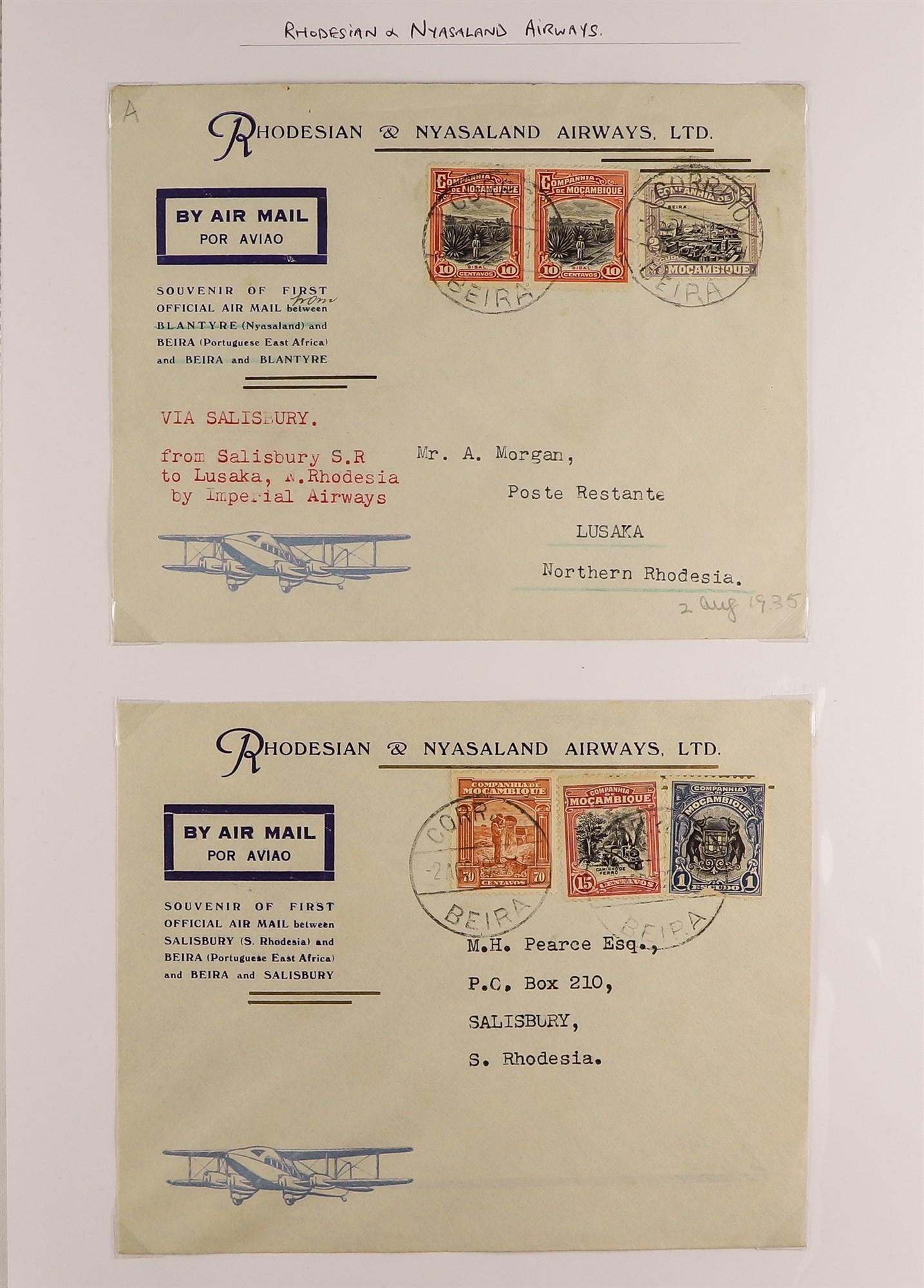 RHODESIA AIRMAIL COVERS COLLECTION 1930's-60's with Rhodesian & Nyasaland Airways (15), Nyasaland- - Image 2 of 10