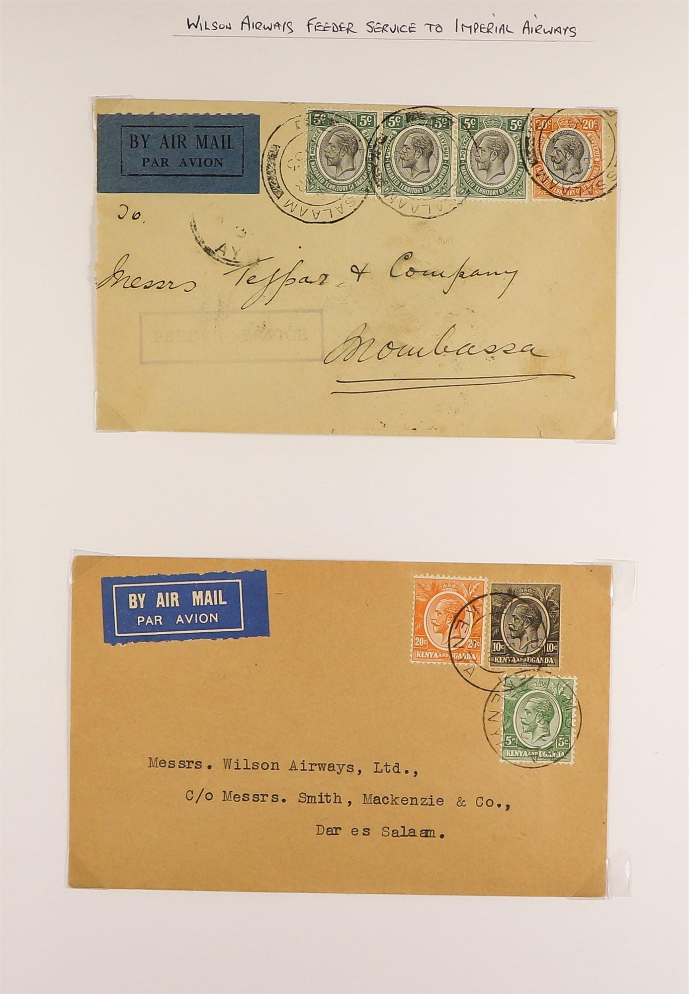 K.U.T. 1927-36 AIRMAIL COVERS COLLECTION incl. 1927 Kenya-Sudan, 1931 Christmas Flight, 1931 - Image 2 of 4