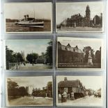 POSTCARDS a largely UK topographical collection in two large slot in albums, many better incl. real