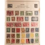 """COLLECTIONS & ACCUMULATIONS WORLD IN A VINTAGE """"STRAND"""" ALBUM to 1930's, with much Commonwealth,"""