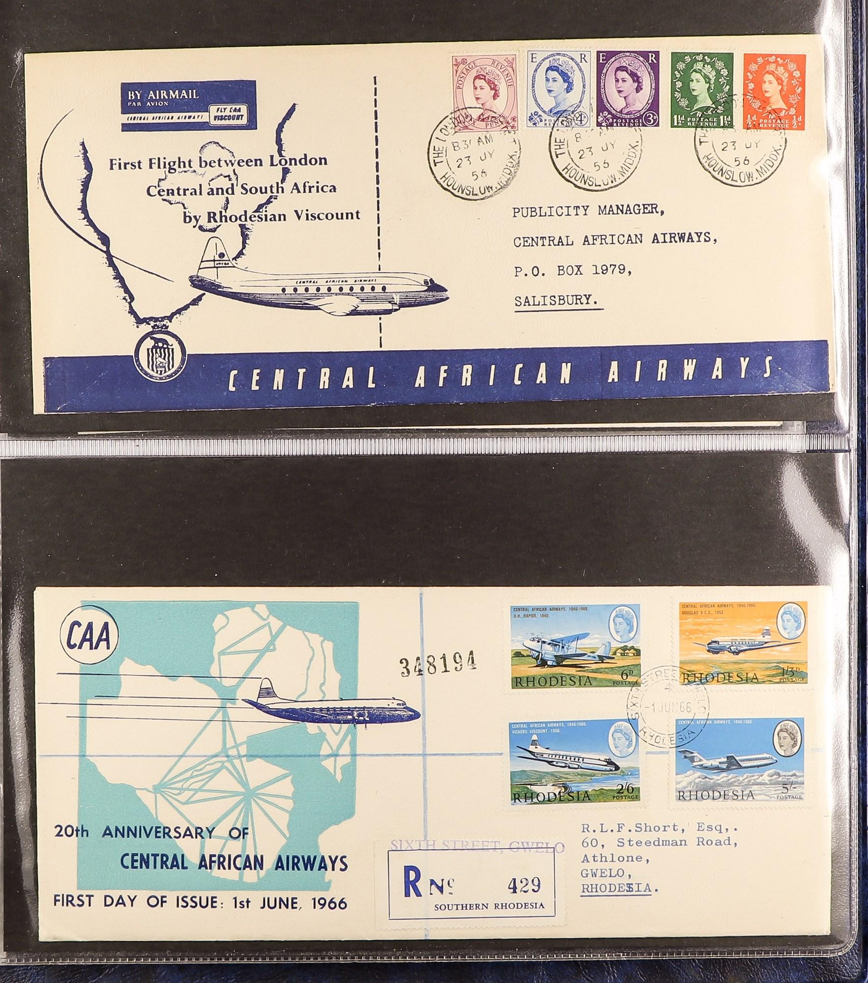 RHODESIA AIRMAIL COVERS COLLECTION 1930's-60's with Rhodesian & Nyasaland Airways (15), Nyasaland- - Image 7 of 10