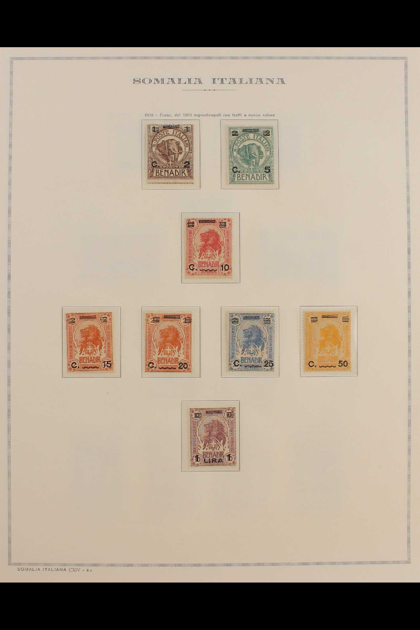 ITALIAN COLONIES SOMALIA 1922-1940 fine mint collection incl.1922 surcharged set, 1923 Fide set NHM, - Image 5 of 18