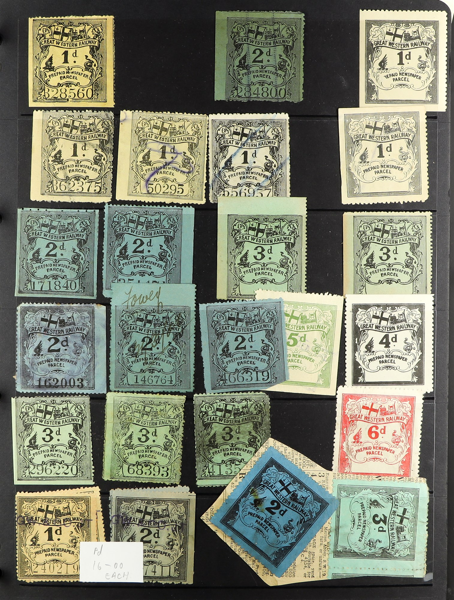 GREAT BRITAIN RAILWAY LETTER AND NEWSPAPER STAMPS 1890's-1940's COLLECTION in two albums, mint and - Image 17 of 24